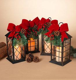 Glass Pane Holiday Lantern (choice of 4 styles)