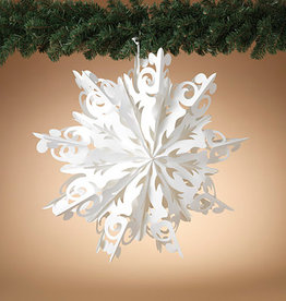 """Fleurish Home Lg Hanging Paper Snowflake (25"""")"""