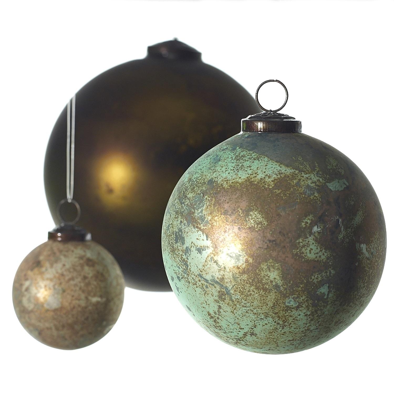 """Fleurish Home """"Eternal"""" Glass Ball Ornament"""