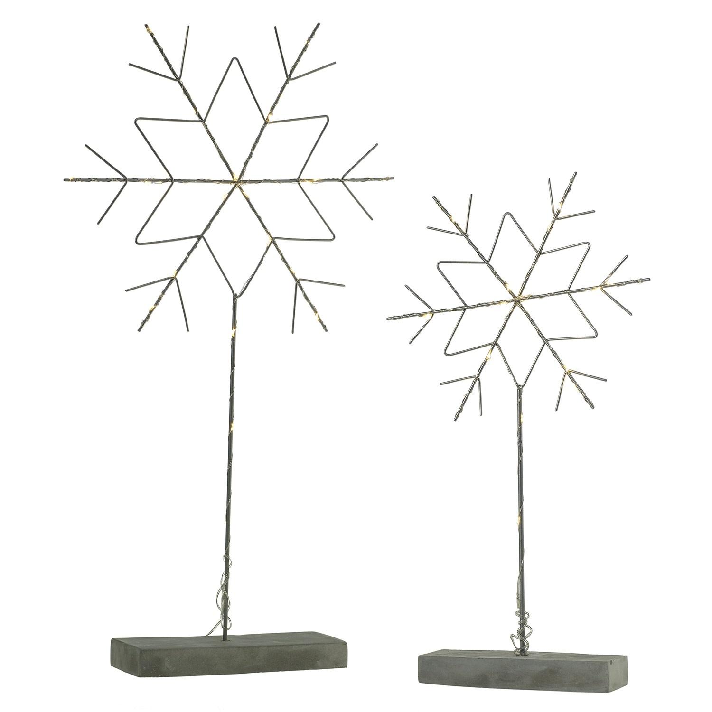 Fleurish Home Modern Lit Snowflake on Stand