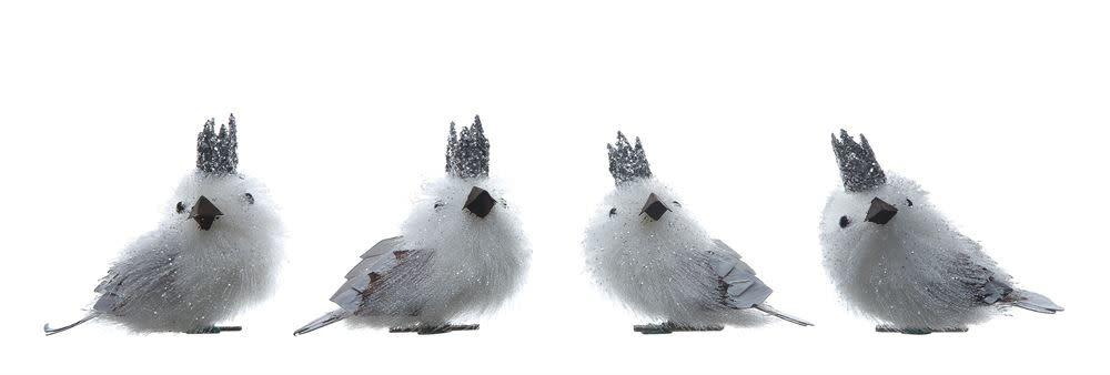 "Fleurish Home Plastic Birds w Crown  2"""