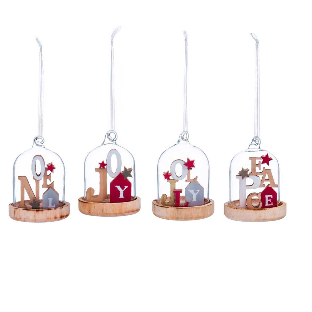 Fleurish Home Glass Cloche Holiday Ornament (choice of 4 styles)
