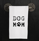 Fleurish Home Quotes Towel Dog Mom (Paw Print)