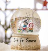 Fleurish Home Let It Snow Musical Snow Globe