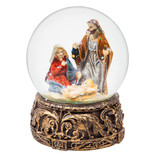Fleurish Home Nativity Musical Snow Globe