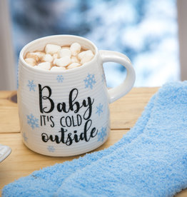 Fleurish Home Baby It's Cold Outside Mug & Socks Gift Set