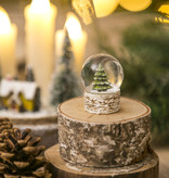 Fleurish Home Rustic Christmas Tree Mini Snow Globe