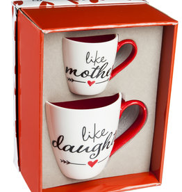 Fleurish Home Like Mother Like Daughter Mug Set in Gift Box