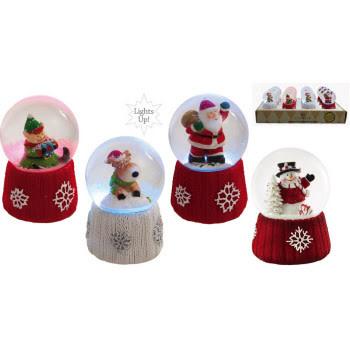 Fleurish Home Cardigan Knit Mini Light Up Snow Globe (choice of 4 styles)