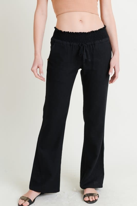 Fleurish Home Wide Leg Linen Blend Pants