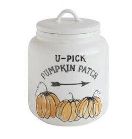 Fleurish Home U-Pick Pumpkin Patch Stoneware Canister