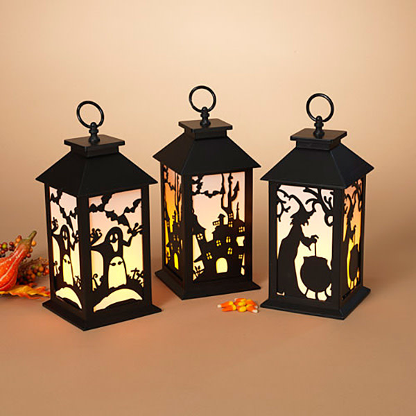 Fleurish Home Lighted Halloween Lantern B/O (3 styles)