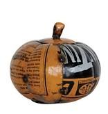 Fleurish Home Sm Recycled Metal Pumpkin