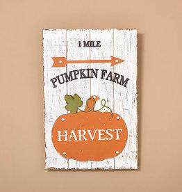 Fleurish Home Pumpkin Farm Wood & Metal Wall Art