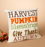 Fleurish Home Harvest Pillow (embroidered)