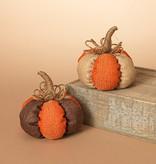 Fleurish Home Burlap Harvest Pumpkin (2 styles)
