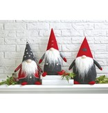 Mudpie RED & GREY GNOME SITTER (choice of 3 styles)