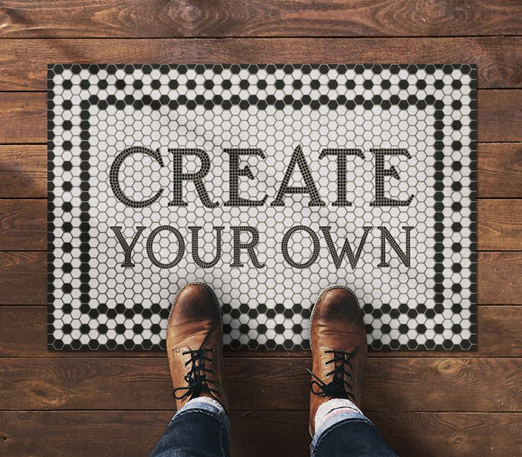 Spicher & Company Custom Mosaic Floorcloth (choice of patterns)