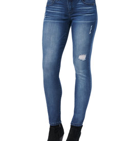 Democracy Luxe Touch Premium Distressed AB-Solution Blue Jean Jeggings