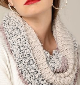 Fleurish Home Color Block Lurex Knit Infinity Scarf