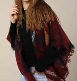 Fleurish Home Textured Plaid Blanket Scarf