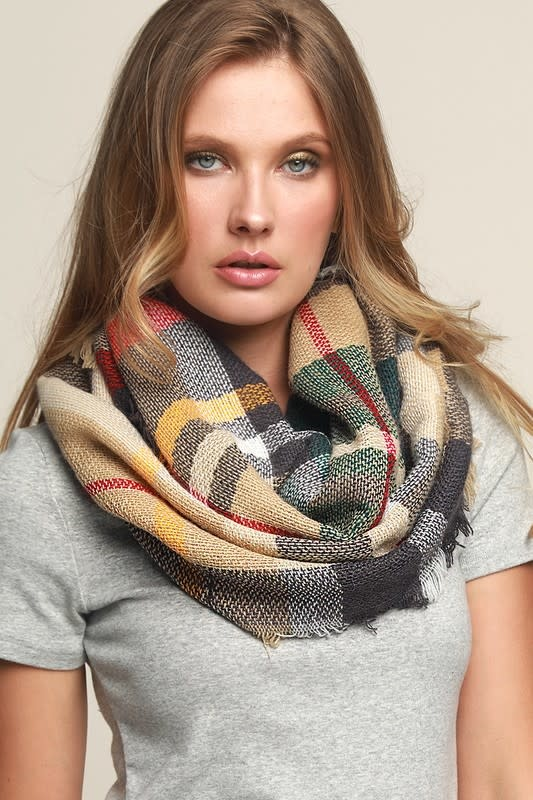 Fleurish Home Everyday Plaid Infinity Scarf