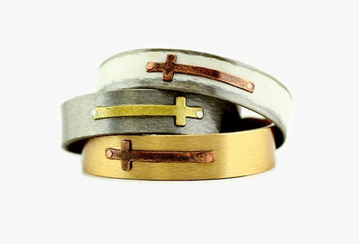 """Cross Bracelet 1/2"""""""