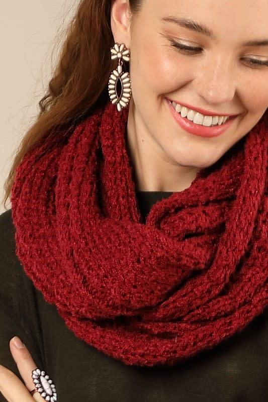 Fleurish Home Crochet Luxury Knit Infinity Scarf