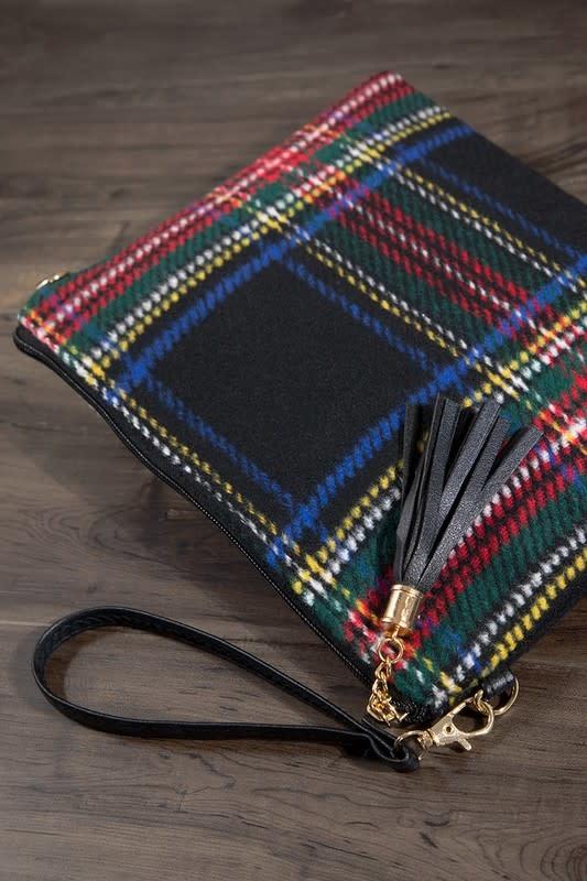 Fleurish Home Tartan Plaid Crossbody/ Clutch Bag