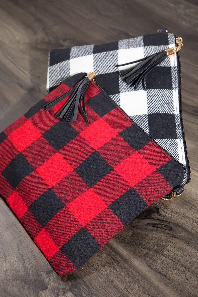 Fleurish Home Buffalo Plaid Crossbody/ Clutch Bag