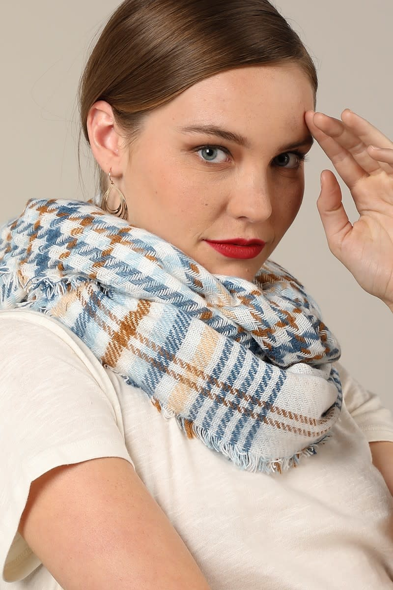 Fleurish Home Reversible Plaid Infinity Scarf