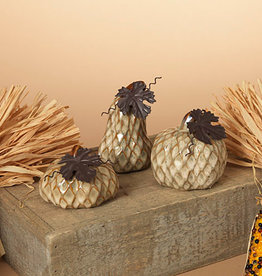 Fleurish Home Textured Porcelain Pumpkin (3 styles)