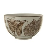 Fleurish Home Stoneware Brown Transferware Bowl