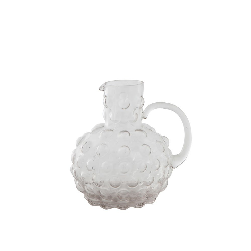 Fleurish Home 20 oz. Smoke Colored Glass Hobnail Pitcher
