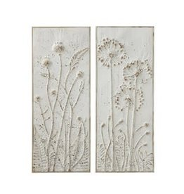 Fleurish Home Metal Wall Décor w/ Flowers (Choice of 2 Styles)