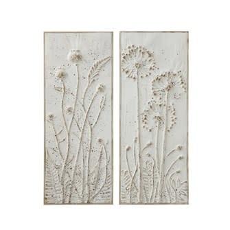 Fleurish Home Metal Wall Décor w/ Flowers (Choice of 2 Styles)