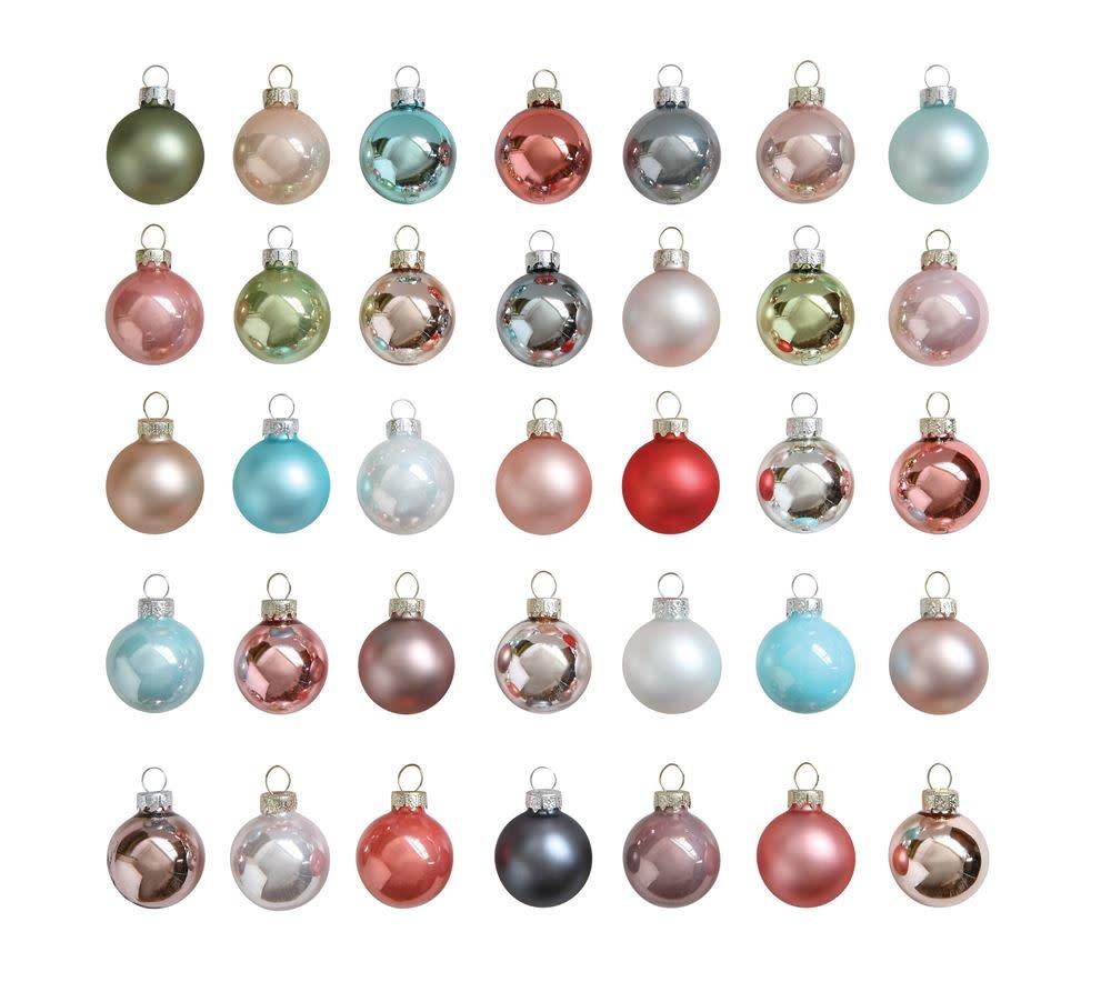 "Fleurish Home Various 1""Round Glass Ornaments"