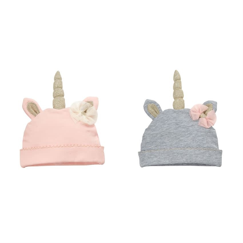 Mudpie UNICORN CAPS (Choice of Grey or Pink)