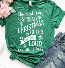 Fleurish Home Best Way to Spread Christmas Cheer Graphic Tee