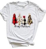 Fleurish Home Merry Christmas Fashion Trees Graphic Tee