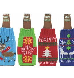 Ugly Sweater Beer Bottle Koozie (choice of 6 styles)
