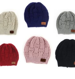 Fleurish Home Classic Solid Color Knit Beanie Hat