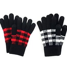 Fleurish Home Buffalo Plaid Knit Texting Gloves