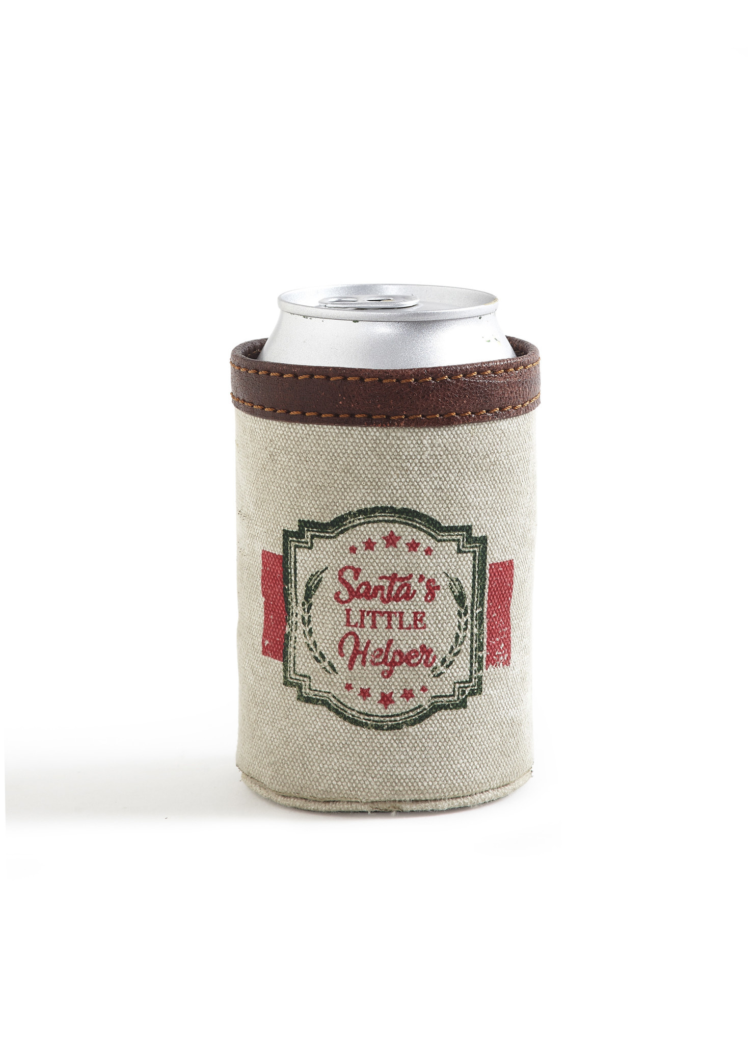 Mona B Santa's Helper Can Koozie