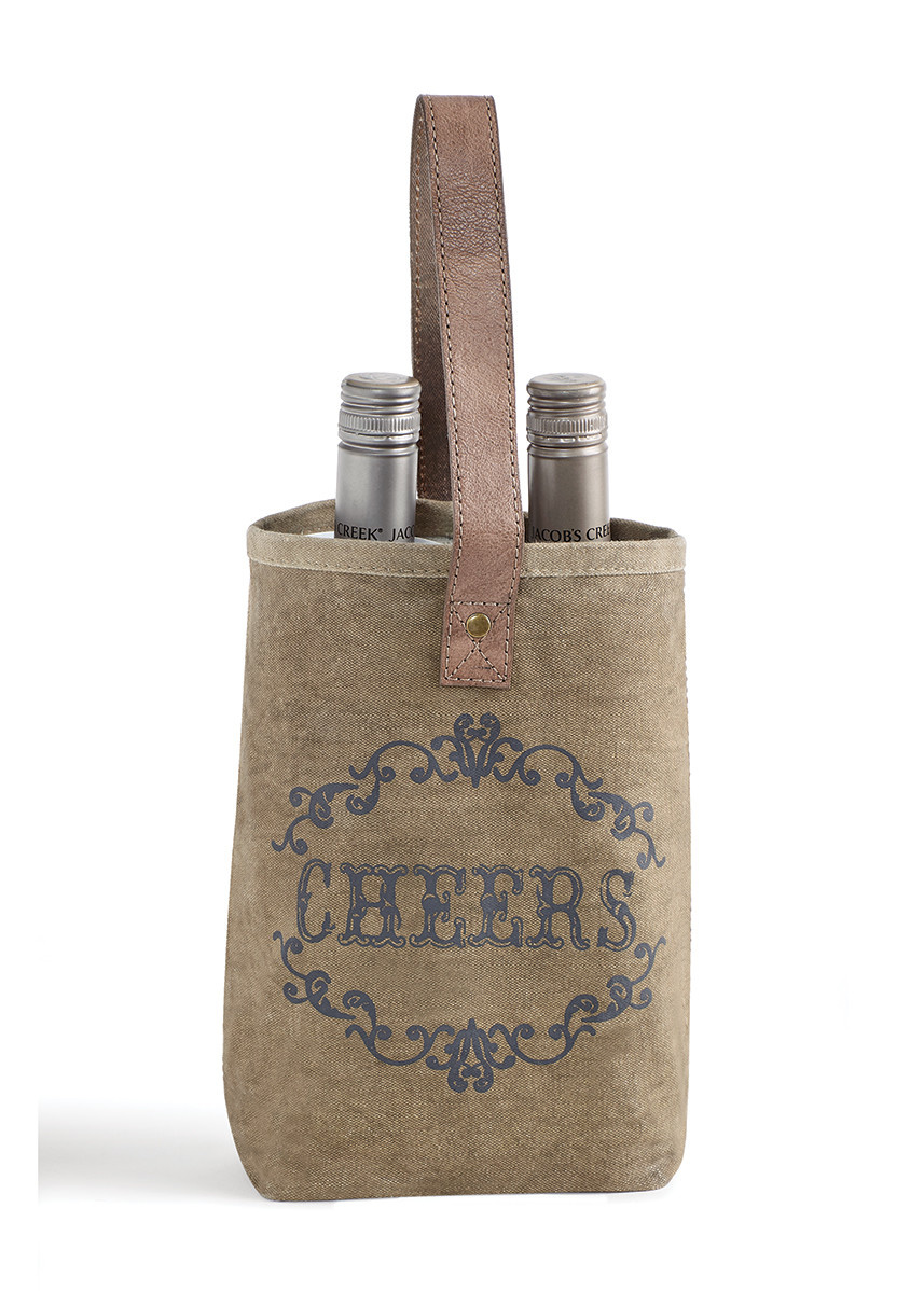 Mona B Cheers Double Wine Bag