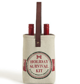 Mona B Holiday Survival Kit Double Wine Bag