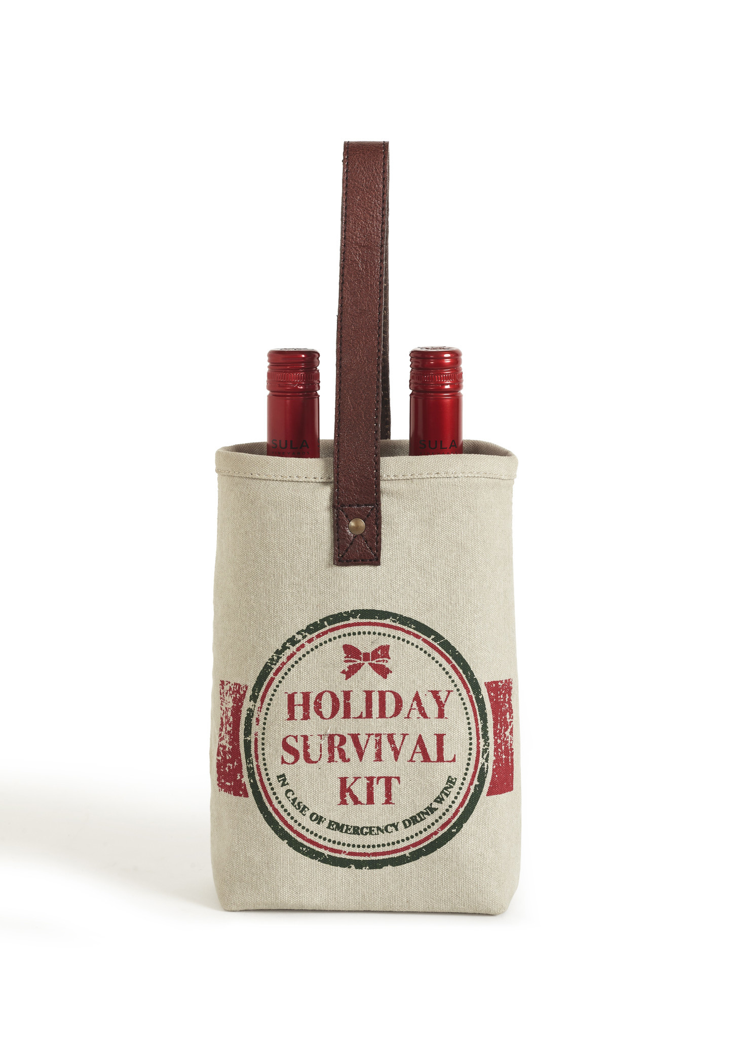 Mona B Holiday Survival Kit Double Wine Bag