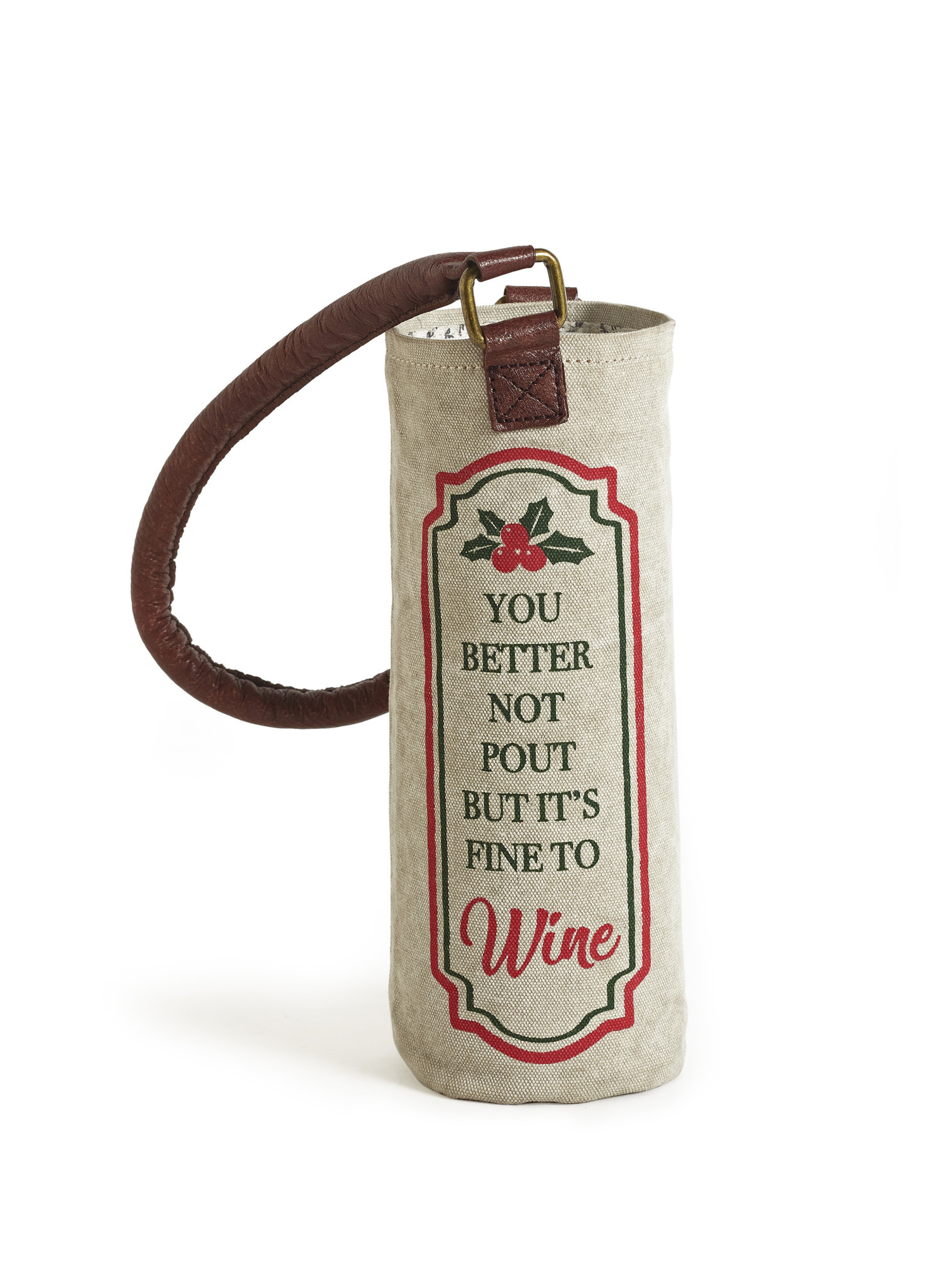 Mona B Better Not Pout Wine Bag