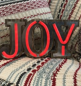 Fleurish Home Neon JOY Tabletop Sign