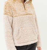 Fleurish Home Mustard Split Color Fleece Pullover